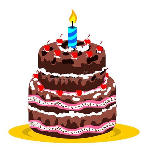 torta de cumplea 241 os con las velas del cumplea 241 os torta y vela de cumplea 241 os ilustraci 243 n del vector