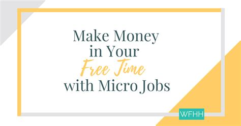 Make Money Online Micro Jobs - make money with micro jobs work from home happiness