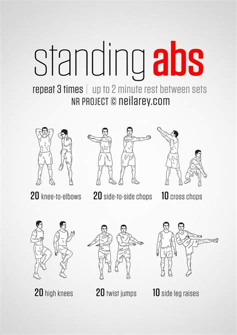 top standing ab exercises and workouts to burn belly