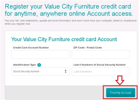 value city furniture credit card value city furniture