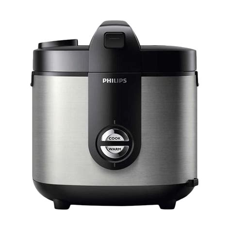 Rice Cooker Philips 2 Liter jual philips hd 3128 stainless rice cooker hitam 2l