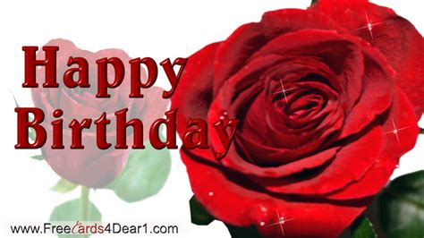 Happy Birthday Cards With Roses Birthday Greetings With Rose Flowers Greeting Cards