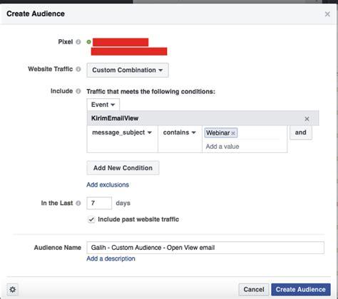 membuat facebook dengan email cara membuat custom audience facebook dengan pixel kirim