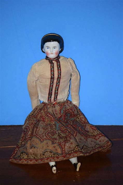china doll band antique doll china w fancy snood dressed with