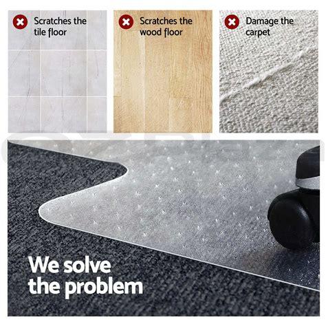 carpet floor office computer work chair mat vinyl protector   mm  picclick au