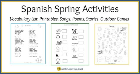 spring coloring pages in spanish spanish spring activities and vocabulary list spanish
