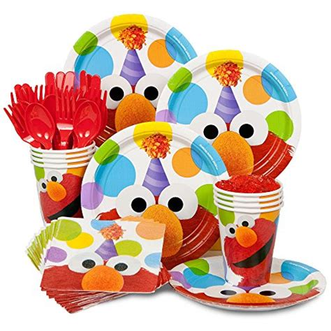 Pigeon Spoon Fork Set With Travel Import Sendok Makan Bayi elmo birthday standard kit serves 8 guests includes plates import it all