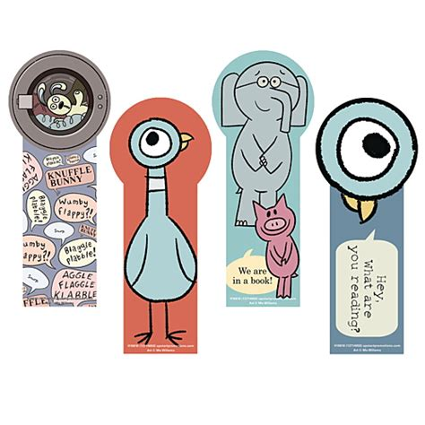 printable elephant bookmarks mo willems stuff demco posters bookmarks bags mugs
