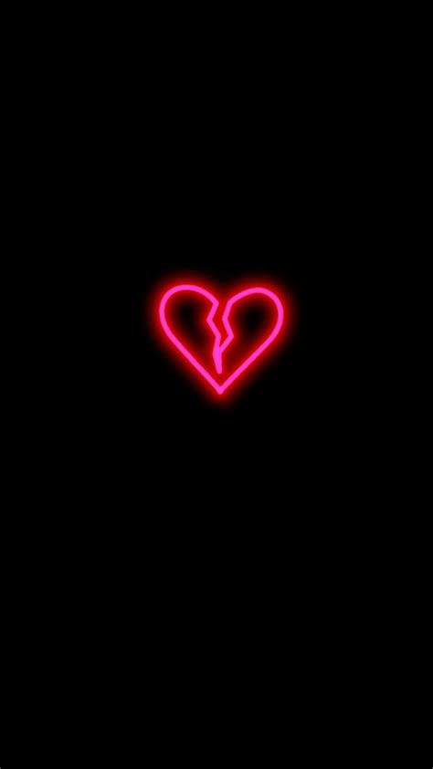 broken heart wally broken heart wallpaper neon
