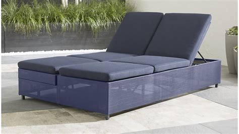 ses sofa dune navy double chaise sofa lounge with sunbrella