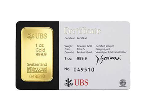 the bullion desk live gold 1 ounce ubs kinebar gold bullion bar 999 9 fine for sale