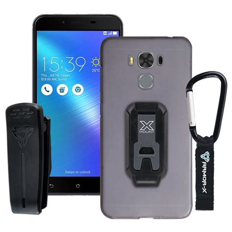 Asus Zenfone 3 Max Zc553kl Leather Dompet Armor Sa Murah asus zenfone 3 max zc553kl protective belt clip carabiner