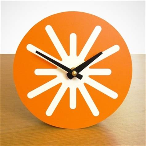 pilot design small splat desk clock contemporary desk