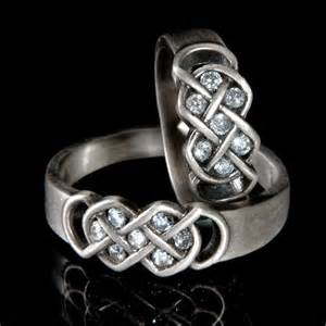 Celtic Infinity Knot Wedding Ring Celtic Wedding Band Set With Infinity By