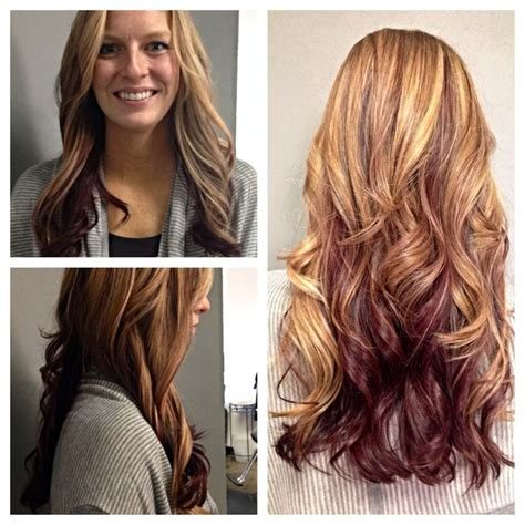 strawberryblond on bottom blond on top 53 best images about hair on pinterest fall hairstyles