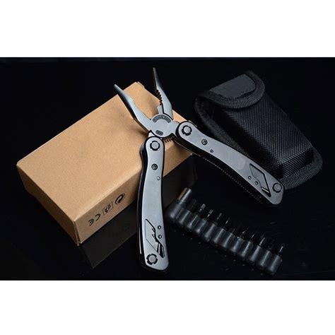 Tang Lipat Edc Multifungsi Stainless Steel Mpa01 Black alat serbaguna lipat 1 alat dengan banyak fungsi penting tokoonline88