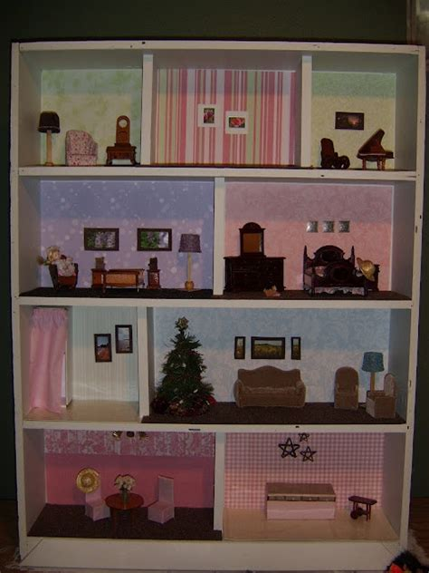 dollhouse from a repurposed bookcase repurpose