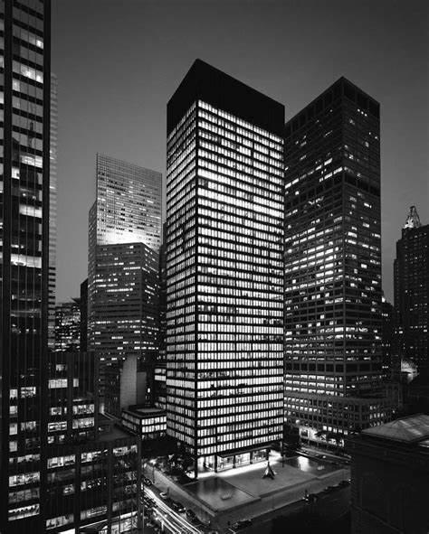 ludwig mies van der rohe the seagram building new york ad classics seagram building mies van der rohe archdaily
