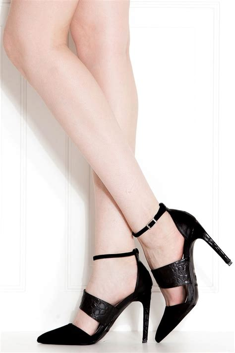 high heel sales trendy s high heels black faux suede ankle