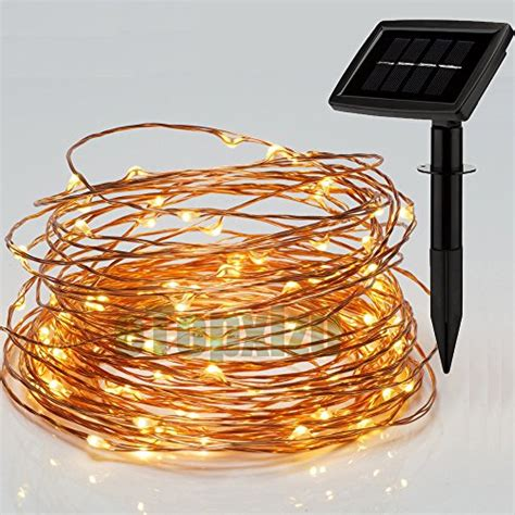wired walkway lights path lights outdoor solar copper wire lights string
