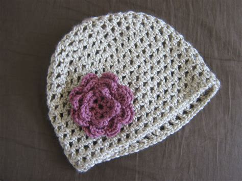 pattern crochet hat with flower 5 daughters how to crochet a flower