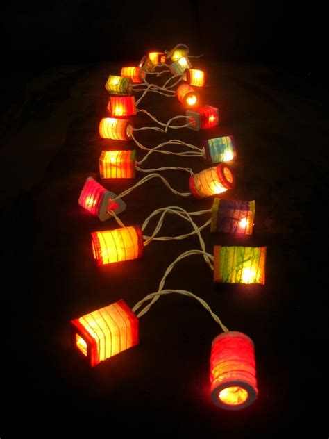 20 Multicoloured Battery Operated Mini Chinese Led String String Light Lanterns