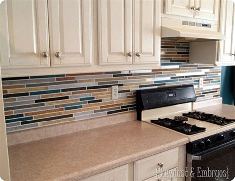 painted backsplash painted tile backsplash