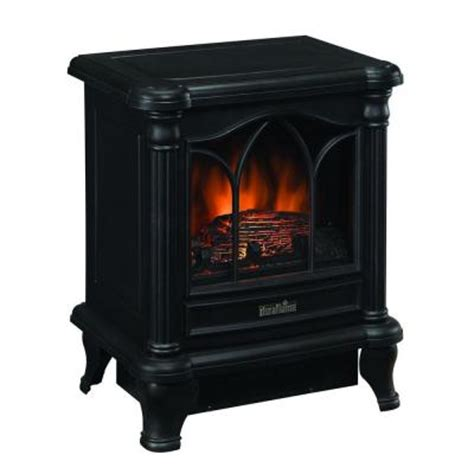 electric fireplace heater portable room space rustic black