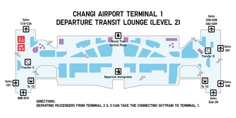 map of singapore airport terminals changi airport store uniqlo