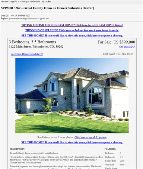 Real Estate Craigslist Template craigslist real estate ad changes real estate marketing