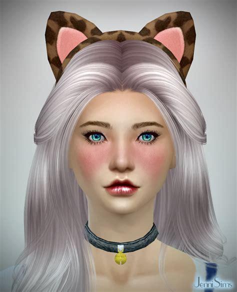jenni sims accessory bow headband sims 4 downloads kitty headband at jennisims sims 4 nexus