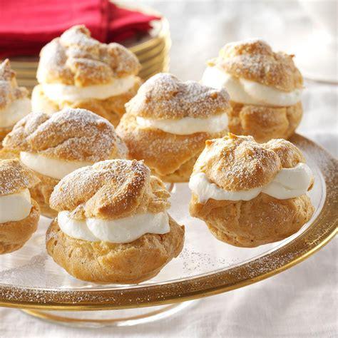 Backyard Summer Ideas Eggnog Cream Puffs Recipe Taste Of Home