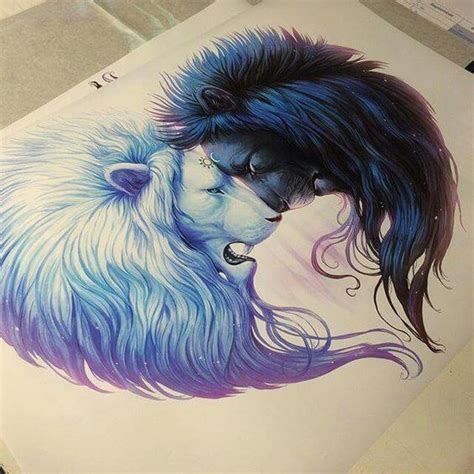 lion couple tattoos this would be one badass ideas