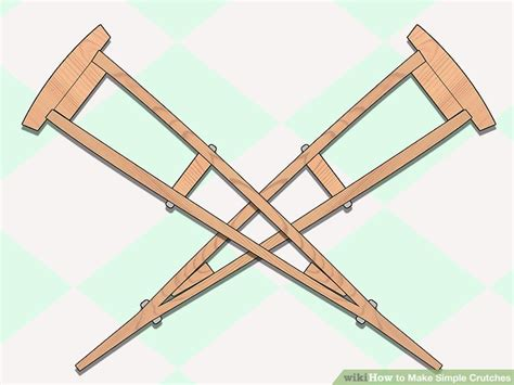 how do you make crutches more comfortable how to make simple crutches 10 steps with pictures wikihow