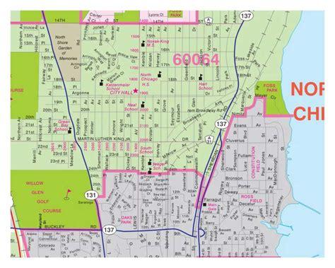 lake county map milwaukee map illinois folded maps