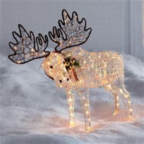 outdoor light up moose moose on 60 pins