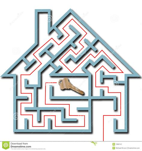 maze house maze home puzzle solution house key shadow royalty free stock photography image 7899747