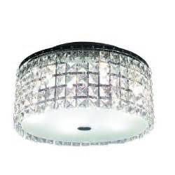 bazz glam cobalt 3 light brushed chrome ceiling light
