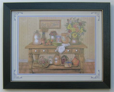 ebay home interiors country kitchen picture framed country picture print