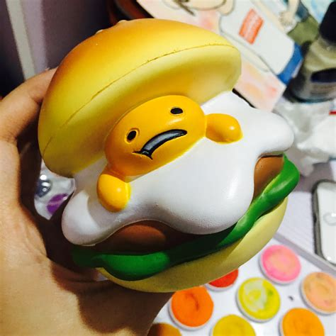 Soft And Slowrise Squishy Bathing Animal By squishystuff rising gudetama burger squishy mascot store powered by