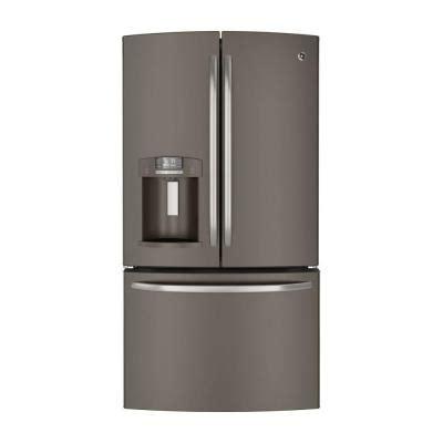 ge 27 7 cu ft door refrigerator in slate