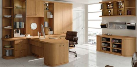 optima oak contemporary home office by strachan
