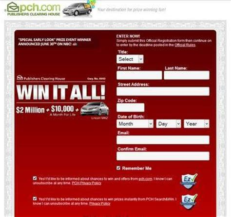 Pch Com Sweepstakes Entry Form - publishers clearing house review is pch a scam surveysarah
