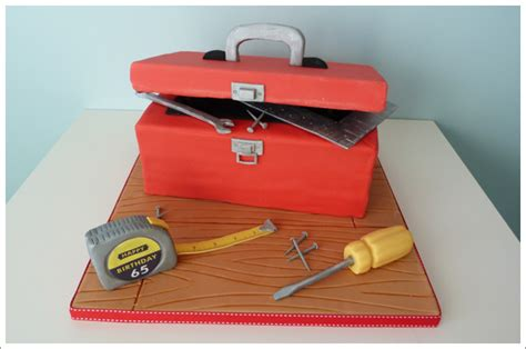 How To Make A Paper Tool Box - tool box cake cakes by lynz