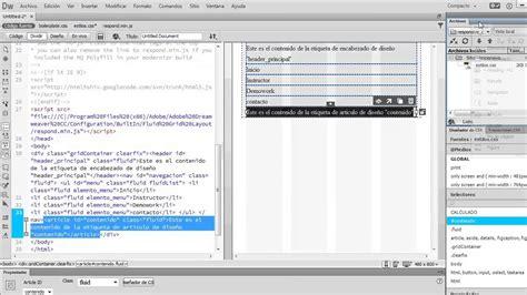 dreamweaver tutorial responsive design responsive web design con adobe dreamweaver cc youtube