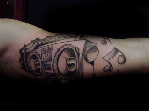 music themed tattoos 40 boombox designs for retro ink ideas