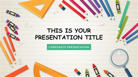 powerpoint template for education kindergarten free slides keynote theme and