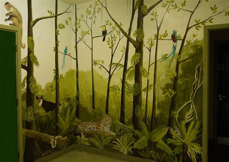 jungle wall mural jungle mural jess arthur mural artist