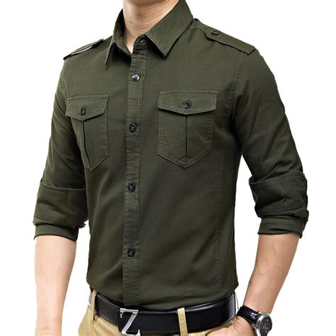 Kemeja Verde Acquista All Ingrosso Vintage Camicie Militari Da