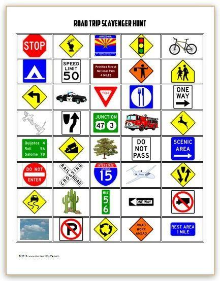 printable road trip scavenger hunt best photos of printable road games kids road trip
